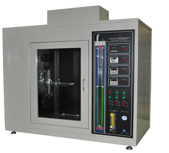 Vertical Material Plastic Testing Equipment , Combustion Flammability Test Equipment