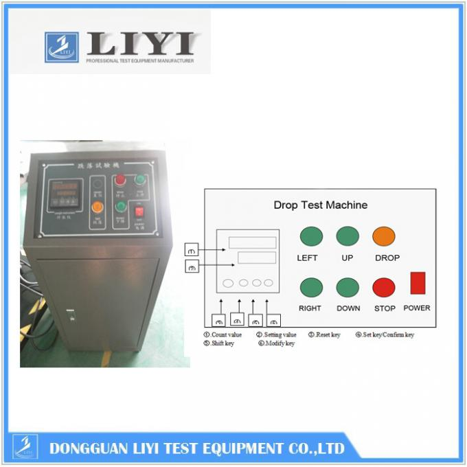 CE Digital Electronic Control Package Testing Equipment Falling Impact 800mm Wide